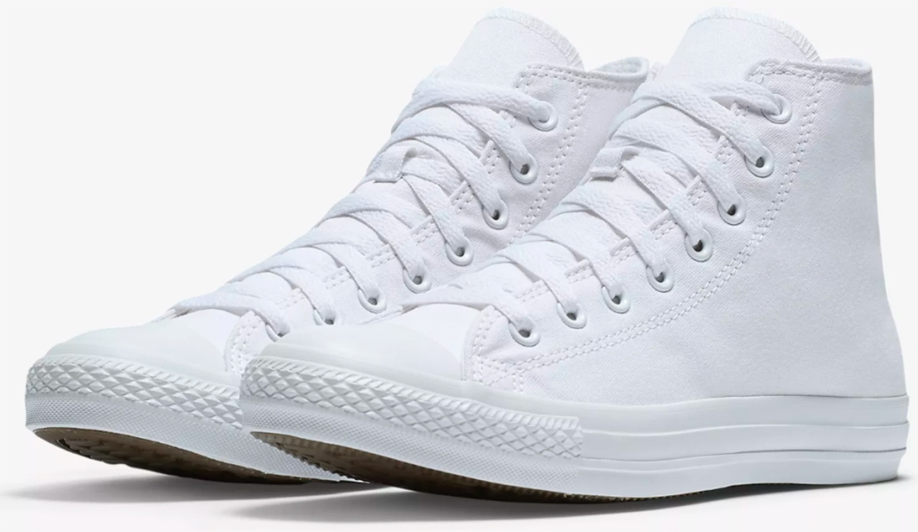0fec98b74e04 Converse Chuck Taylor White Monochrome High Top Unisex Shoes  55. Use promo  code MONODEAL Shipping is FREE w  Nike+ account. Final cost only  33  shipped!