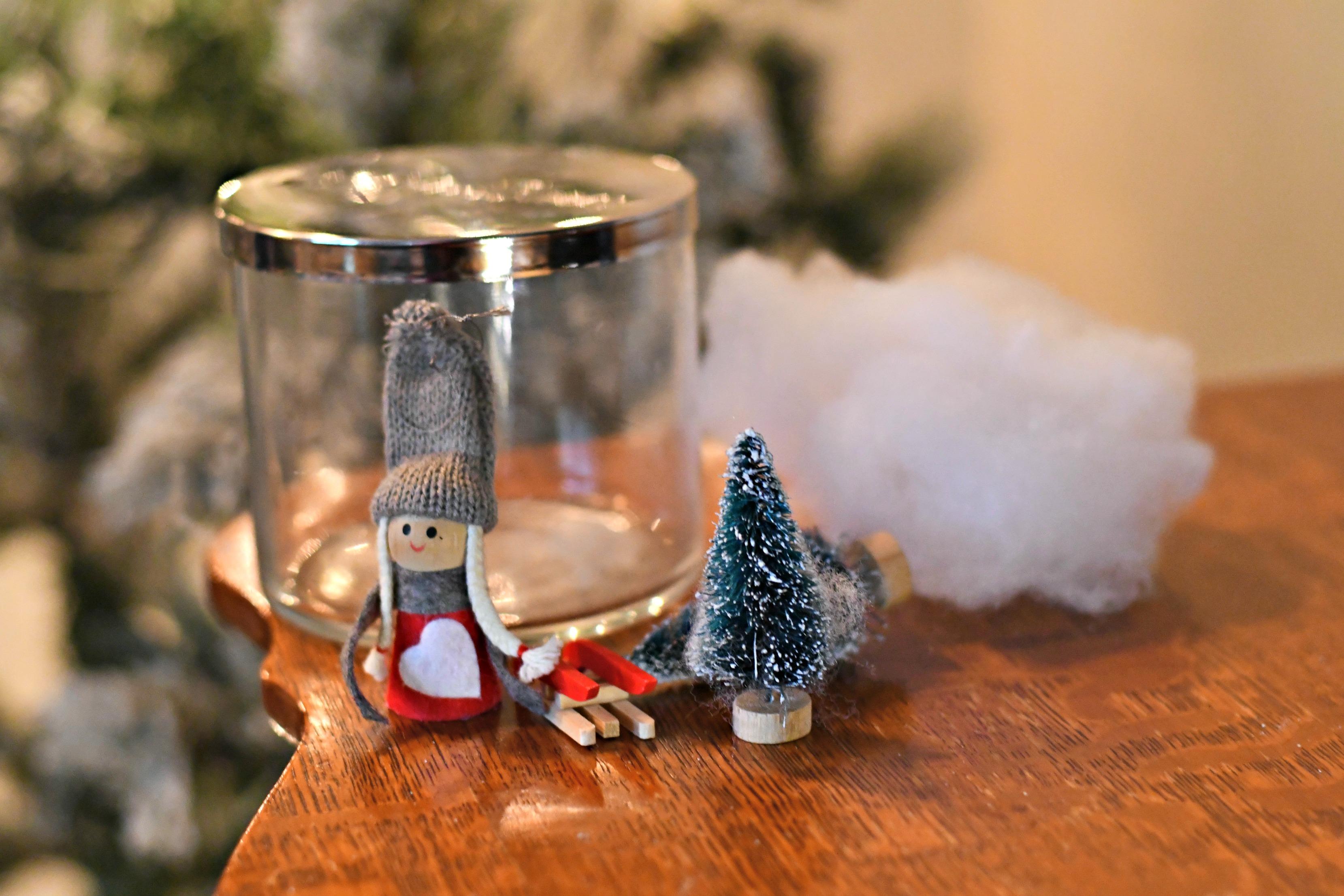 Turn A Pretty Candle Jar Into A Diy Christmas Snow Globe