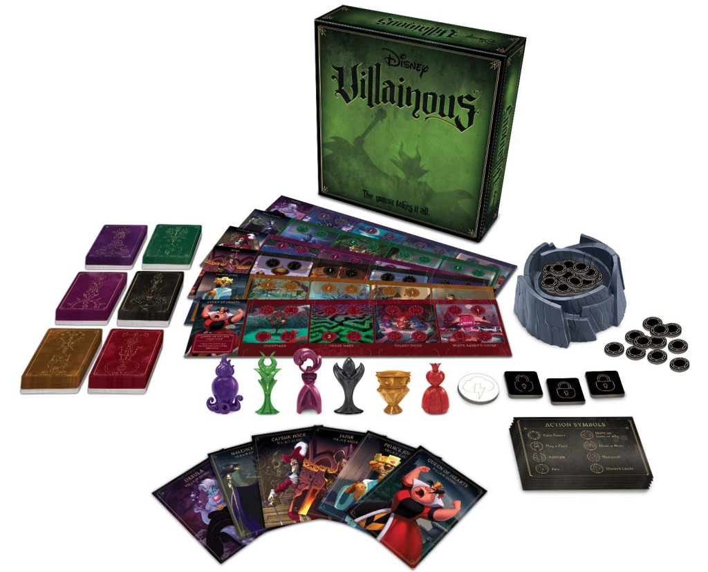 disney villainous game stock image with contents showing