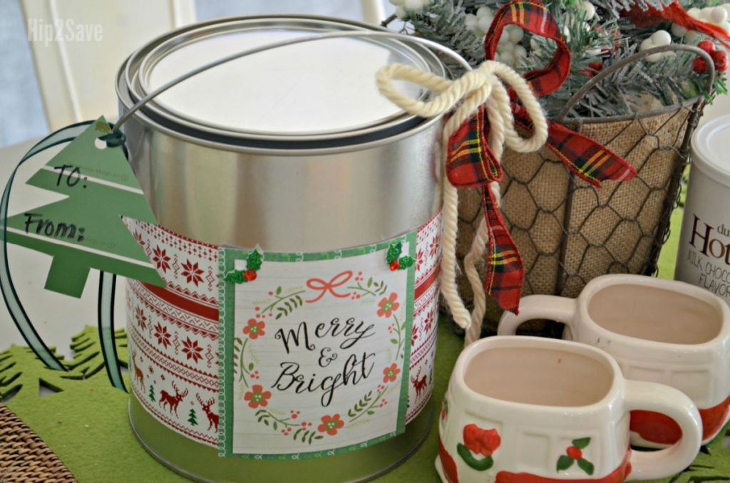 gift wrapped paint can
