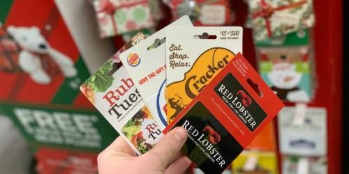 15% Off Restaurant Gift Cards at Dollar General (Red Lobster,Cracker Barrel & More)