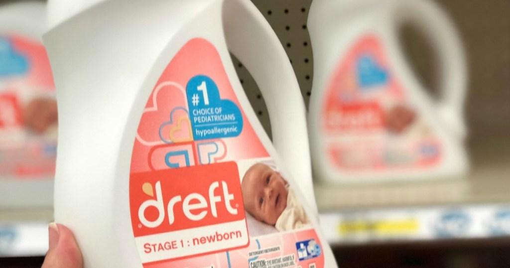 bottle of dreft laundry detergent
