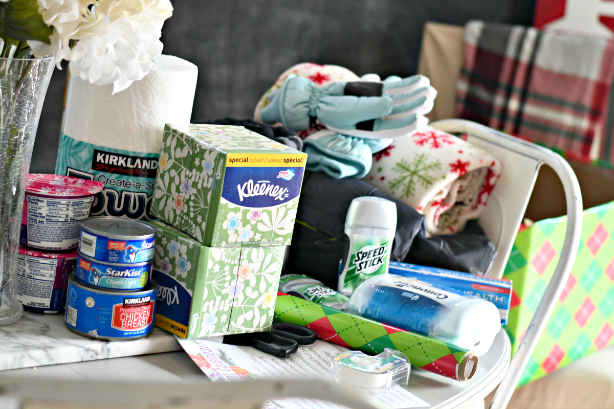 Reverse Advent Calendar – kleenex, gloves, deodorant, oatmeal, and more