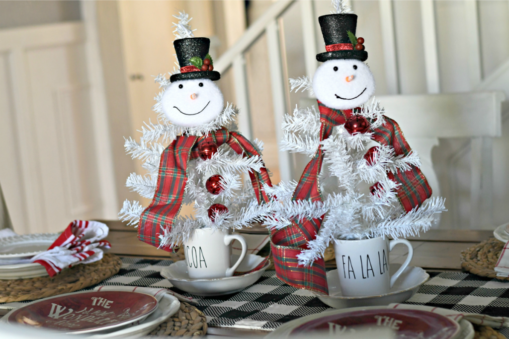 Dollar Tree Christmas Centerpieces