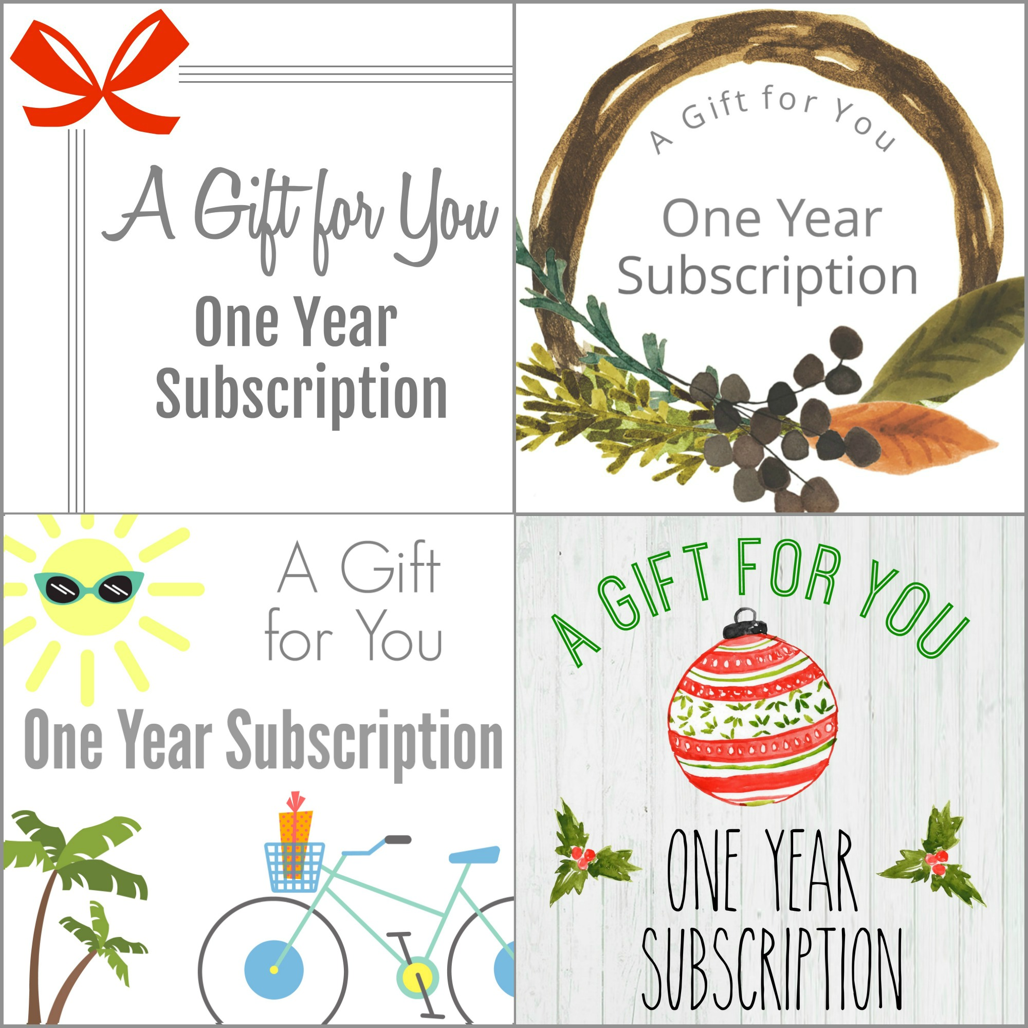 how to give a magazine subscription as a gift
