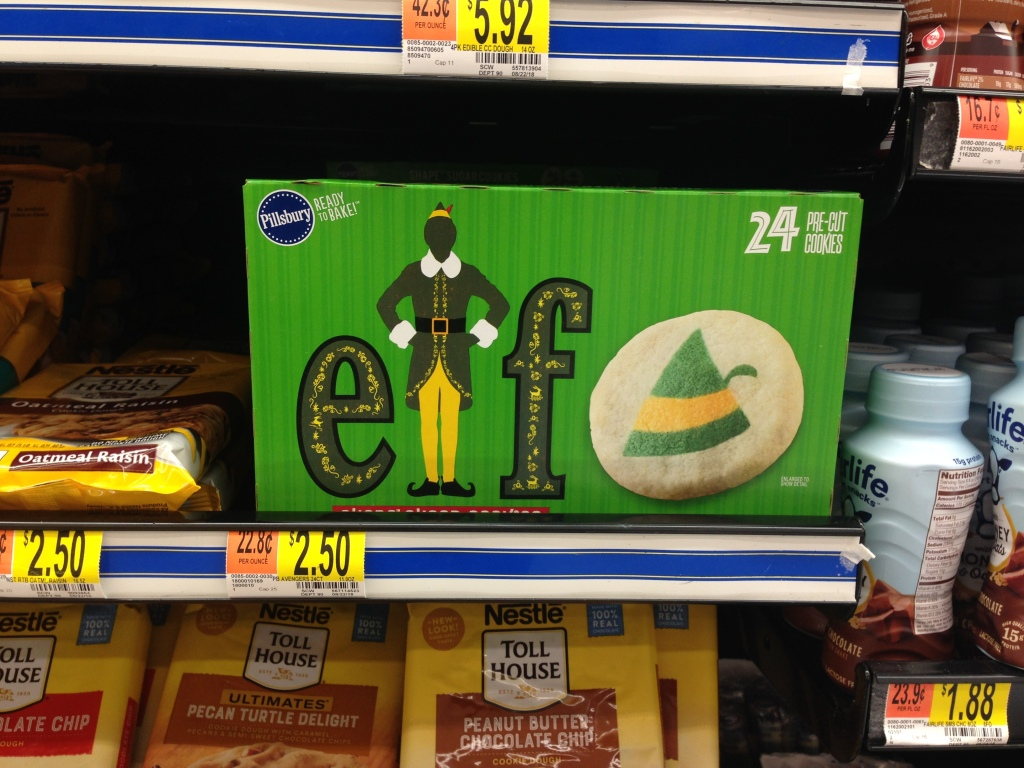 Heading To Walmart Soon Be On The Lookout For These Cute Elf 24ct Pre Cut Sugar Cookies In Refrigerated Aisle Just 250