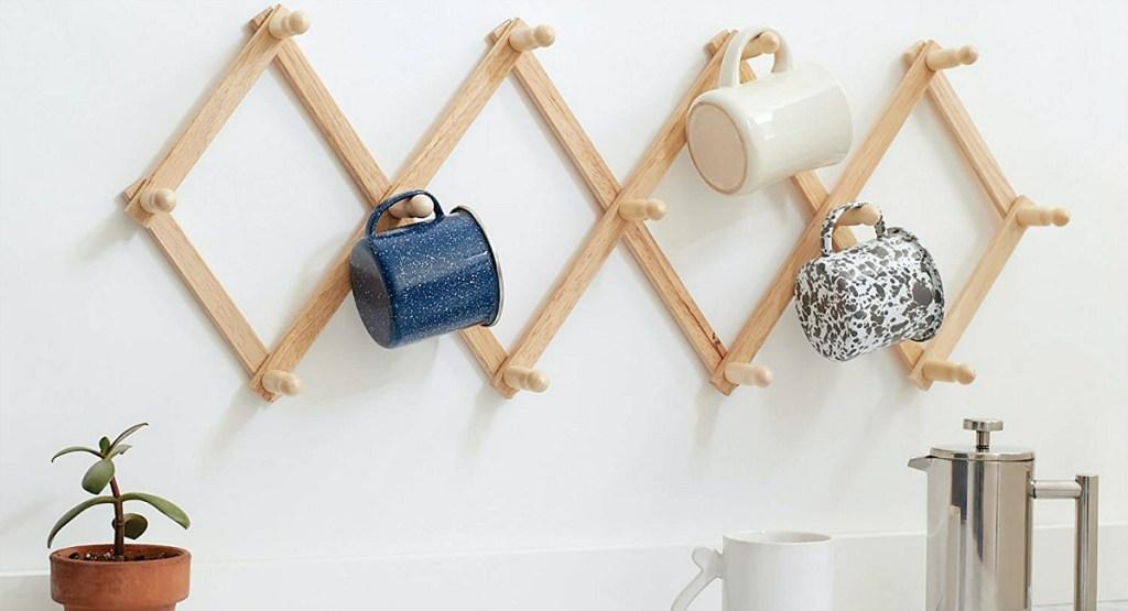 gift guide for coffee lover — expanding coffee mug rack
