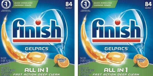 Amazon: Finish 84-Count Gelpacs Only $8.10 Shipped (Just 10¢ Per Pac)