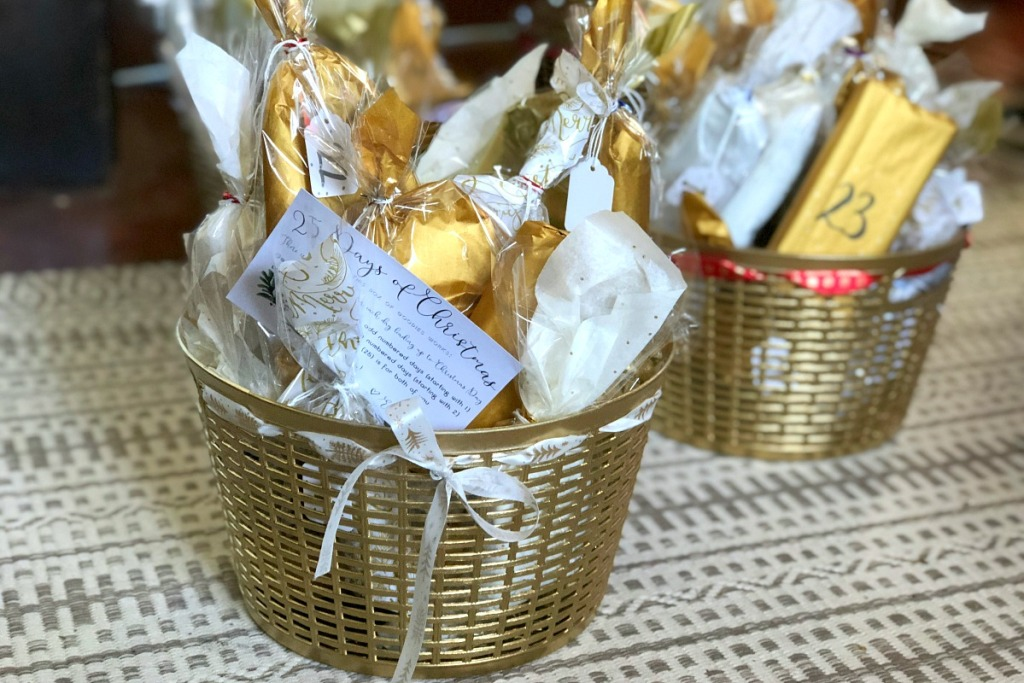 diy advent calendars — finished basket