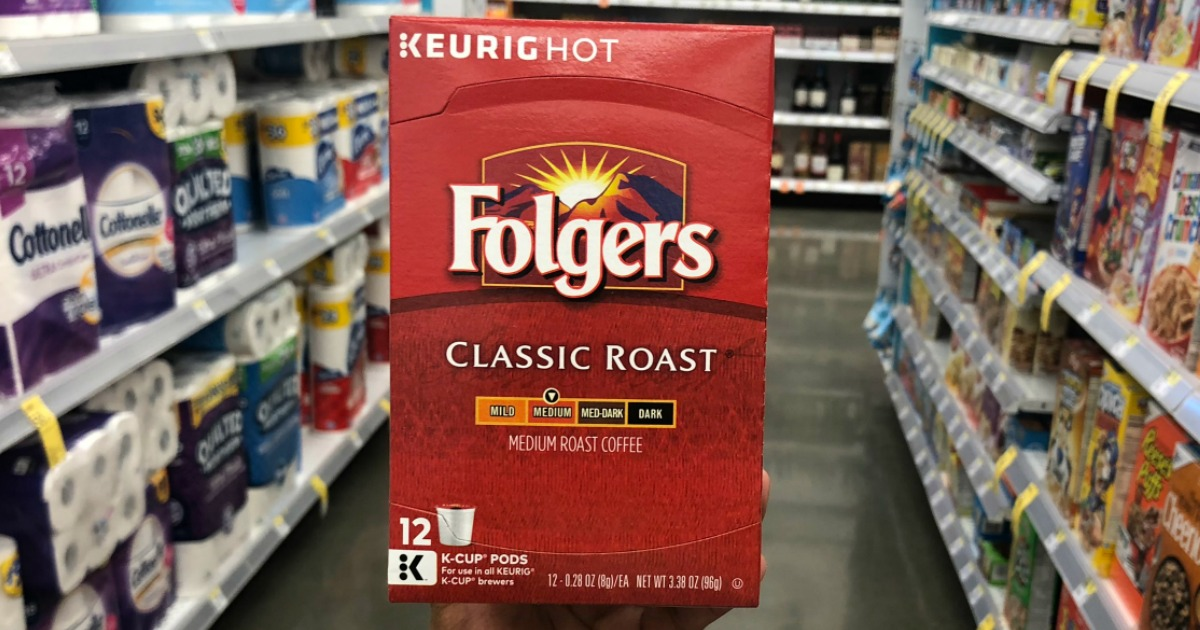 photograph about Folgers Coffee Coupons Printable called Fresh new $2.50/2 Folgers K-Cup Coupon \u003d 12-Rely Simply $4.74 at