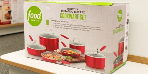 Food Network 10-Piece Cookware Set as Low as $50.98 Shipped (Regularly $130) + Get $10 Kohl's Cash