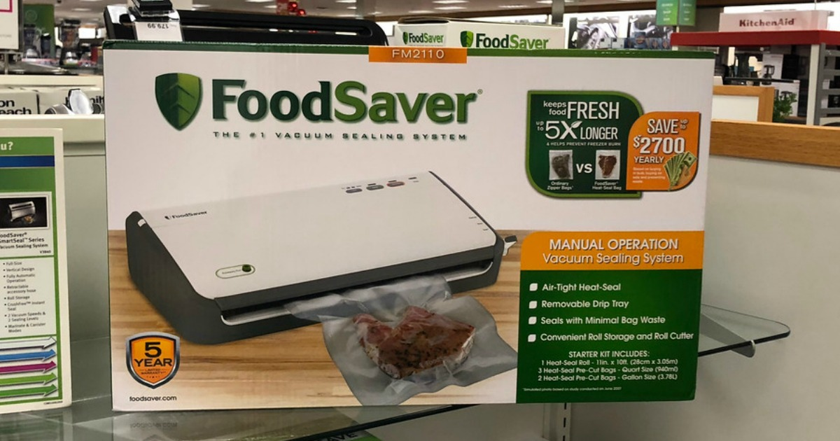 foodsaver systems on shelf in store