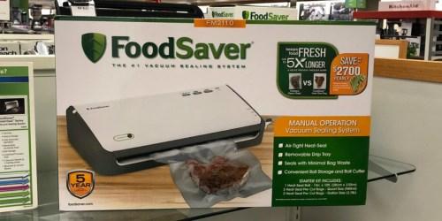 FoodSaver Vacuum Sealer System $35.99 Shipped After Rebate + $10 Kohl's Cash (Better Than Black Friday)