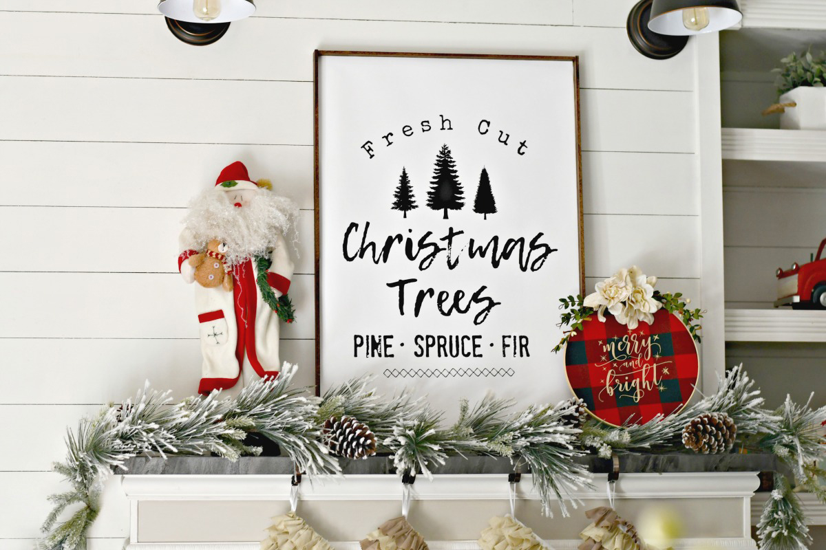 Diy Farmhouse Style Christmas Tree Sign Free Printable Hip2save