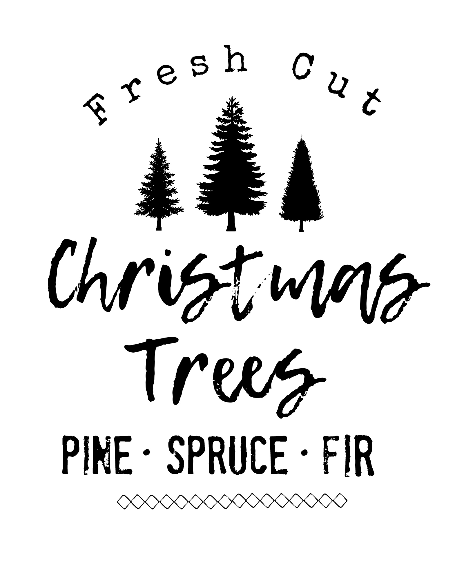 DIY Farmhouse Style Christmas Tree Sign (Free Printable) | Hip2Save
