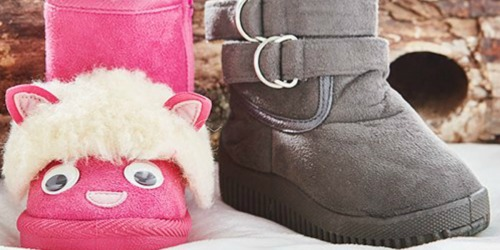 Girls Faux Shearling Boots ONLY $5.49 on Zulily (Regularly $15+)