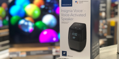 Insignia Bluetooth Speaker & Alarm Clock w/ Google Assistant Only $19.99 Shipped (Regularly $100)