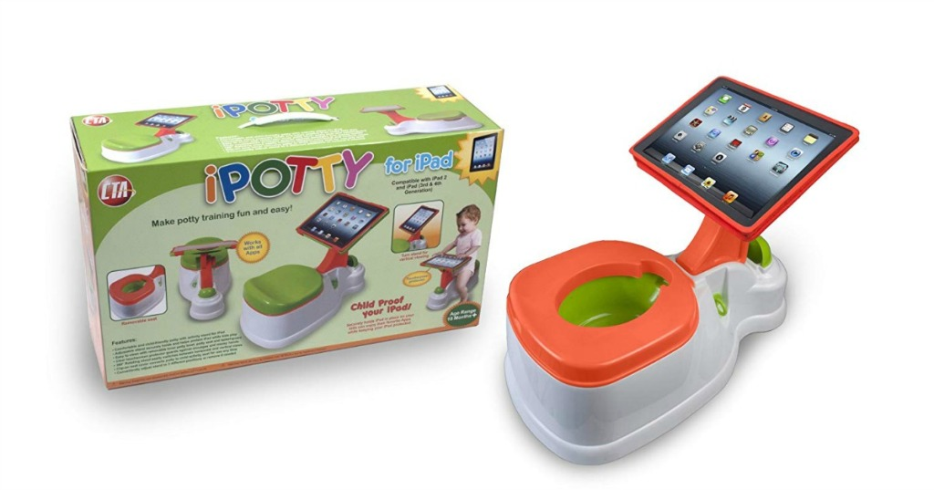 digital ipotty training potty with ipad holder