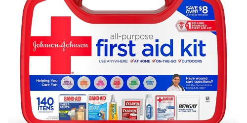 Amazon: Johnson & Johnson 140-Piece First Aid Kit Just $8 Shipped