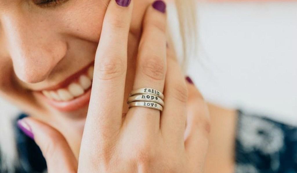 gift guide for women — lisa leonard sterling silver stackable rings