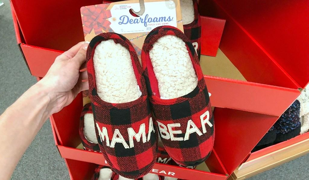 gift guide for women — dearfoams mama bear slippers
