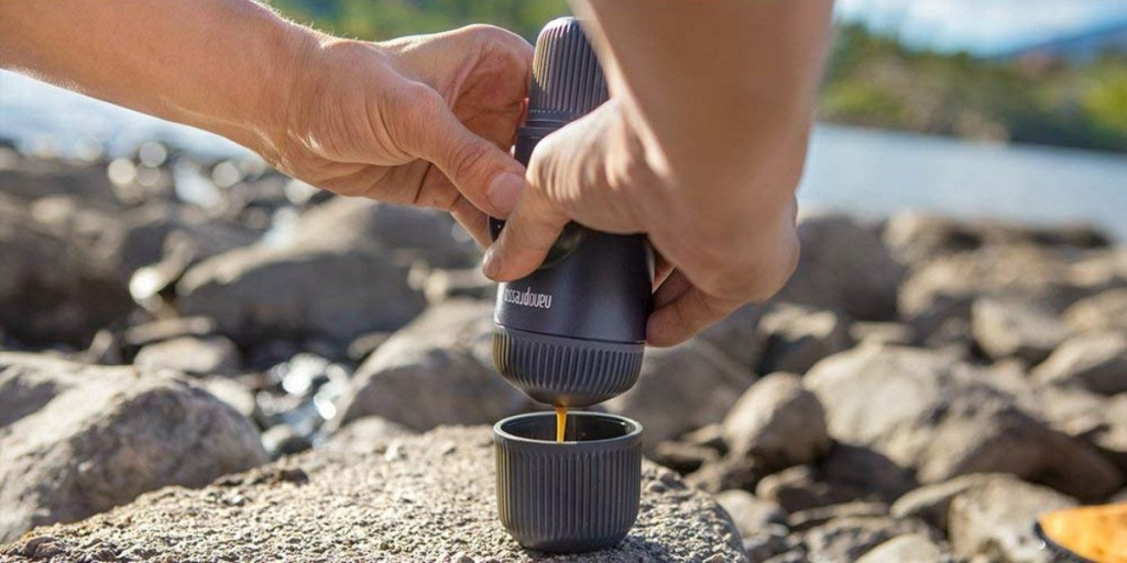 gift guide for coffee lovers — on the go espresso with nanospresso maker