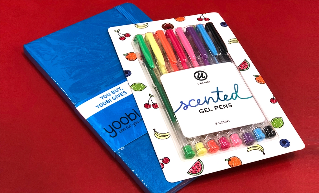 gifts for groups — notebook and gel pen
