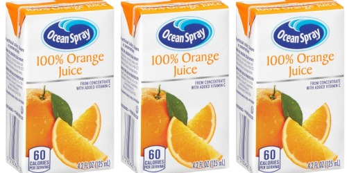 Amazon: Ocean Spray Orange Juice 40-Pack Juice Boxes Only $7 Shipped (Just 18¢ Each)