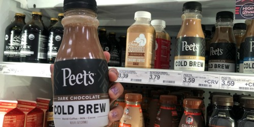 Peet's Cold Brew 10.5oz Bottles Only $1 at Target (Just Use Your Phone)