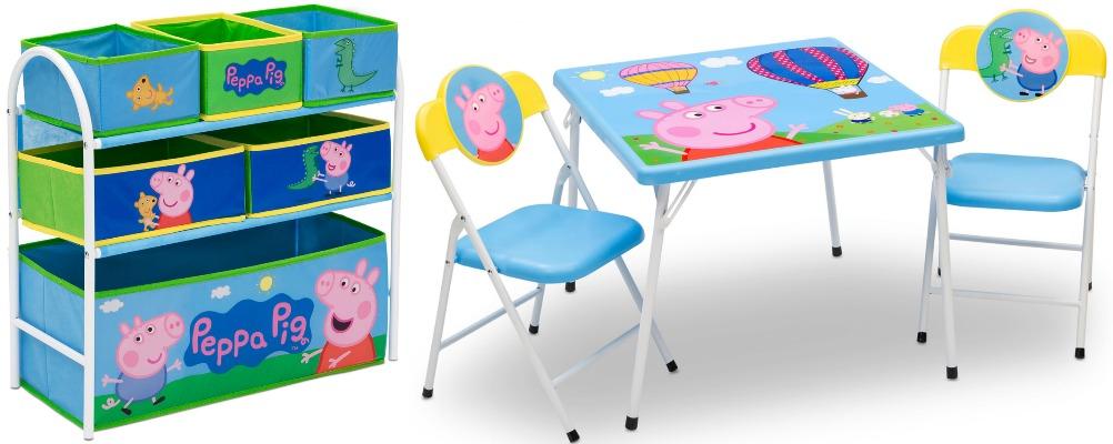 Walmart Peppa Pig 4 Piece Toddler Playroom Furniture Set Only