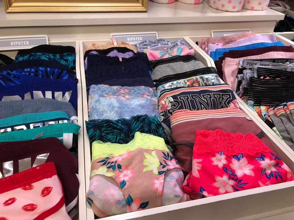 pink panties on display at store