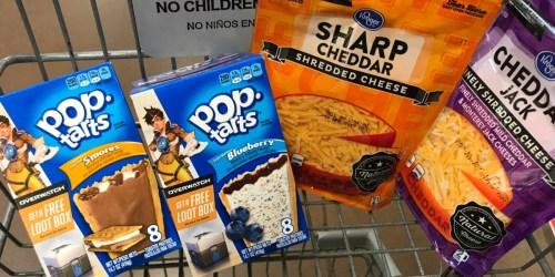 Kroger & Affiliate Shoppers: Shredded Cheese Bags & Kellogg's Pop Tarts Only 99¢ (11/8 – 11/10)