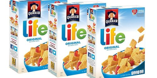 Amazon Prime: Quaker Life Cereal 3-Pack Just $4 Shipped