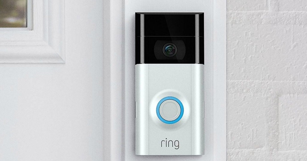 ring 2 placed on outside of door