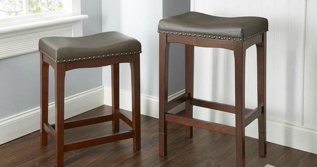 Strange Lowes Two Saddle Stools Only 49 Regularly 150 More Inzonedesignstudio Interior Chair Design Inzonedesignstudiocom