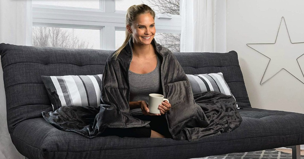 Sharper Image Calming Comfort 10lb Weighted Blanket Only 7999