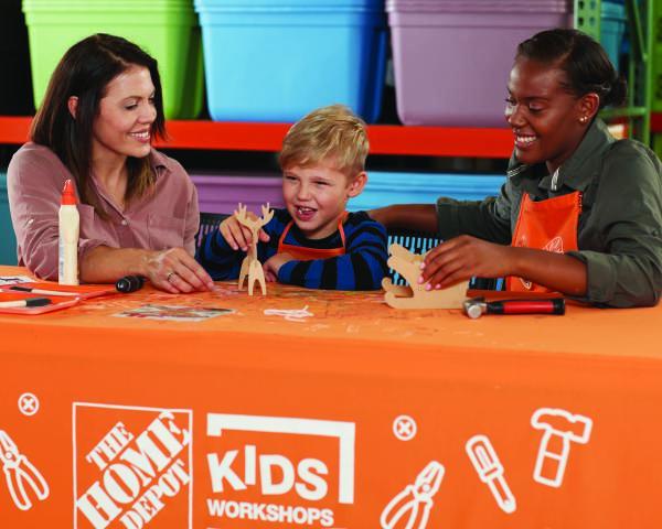 Free Home Depot Kids Workshop To Build Sled W Reindeer On December