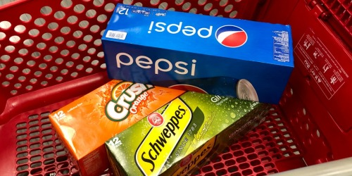 40% Off Pepsi, Crush & Schweppes Soda at Target + More (In-Store & Online)