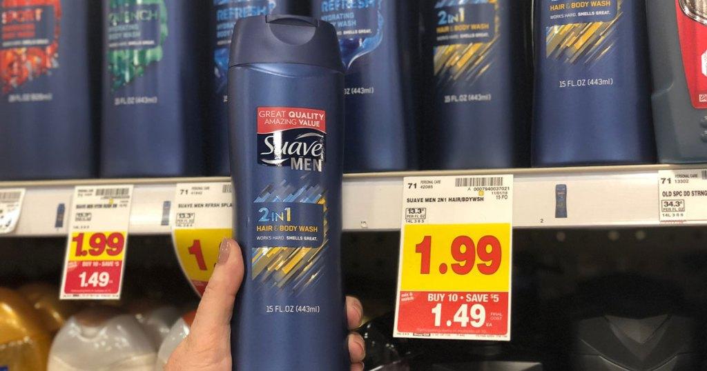 suave men's body wash sale at kroger
