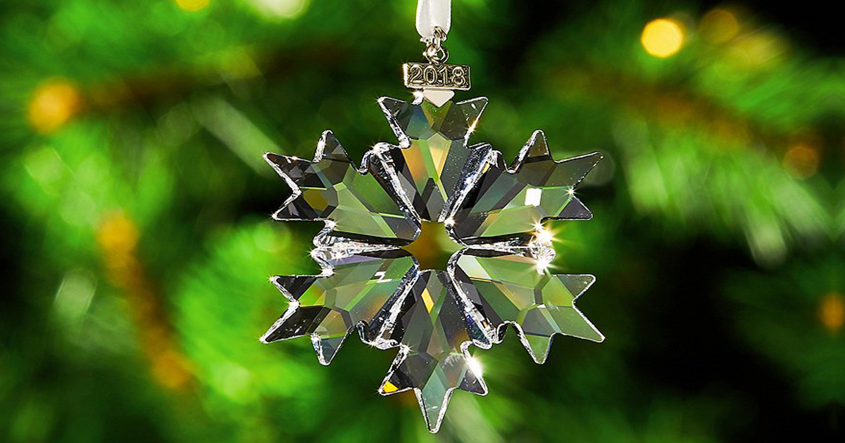 b8a9800f7284 Swarovski 2018 Annual Edition Snowflake Ornament Only 36 58 Shipped
