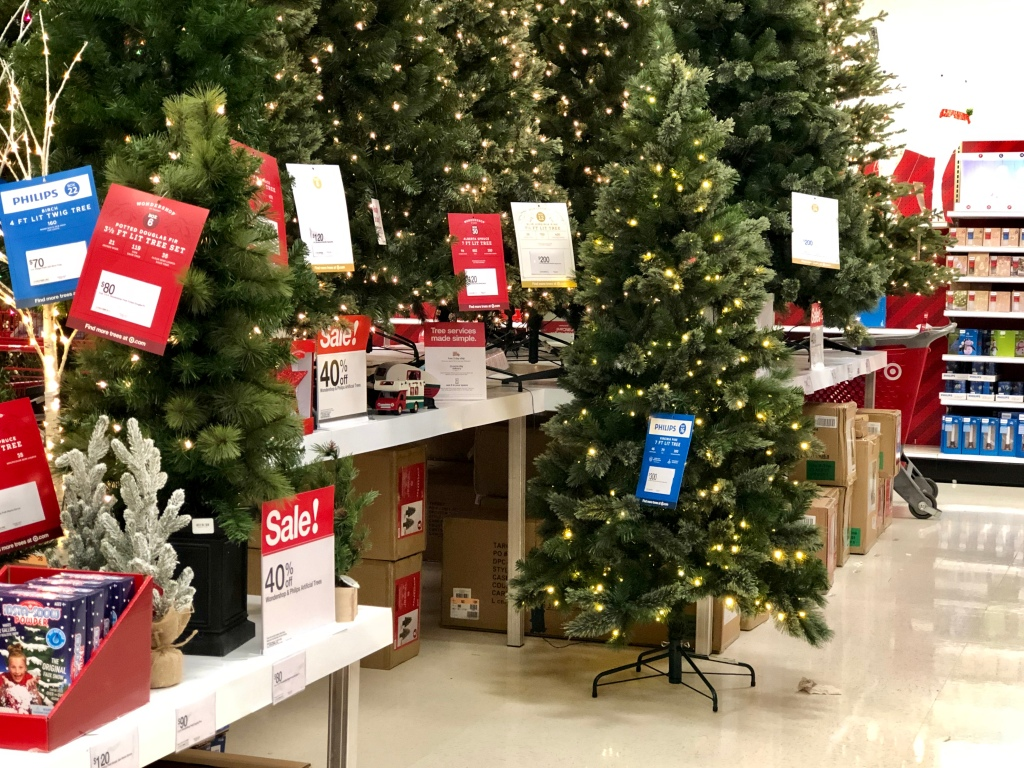 40% Off Artificial Christmas Trees At Target (In-Store