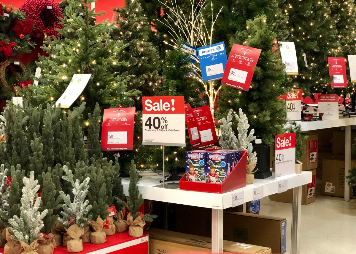 Artificial Christmas Trees at Target