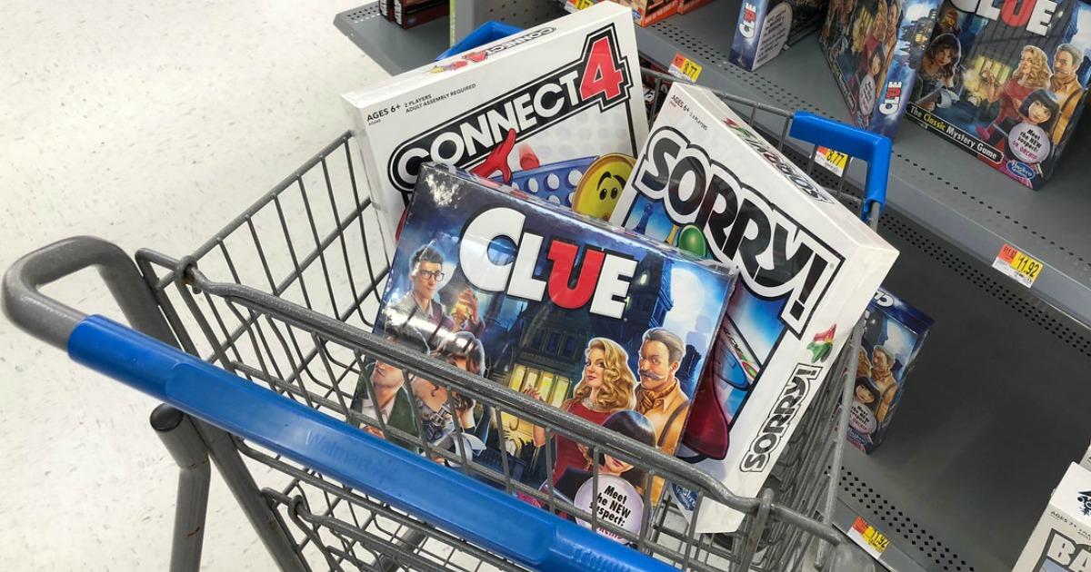 best walmart black friday 2018 deals – cart filled with board games