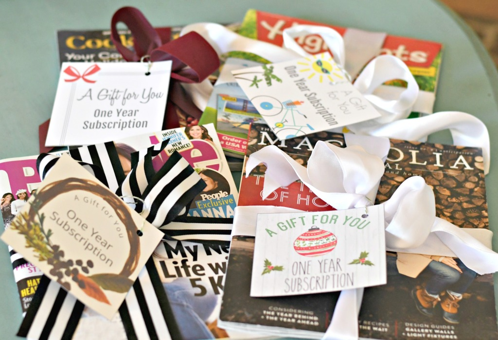 Gift a Magazine Subscription Using Our Free Printable Cards!