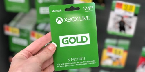 50% Off XBOX Live Gold 3-Month Membership at Walmart.com (Great Gift For Gamers)