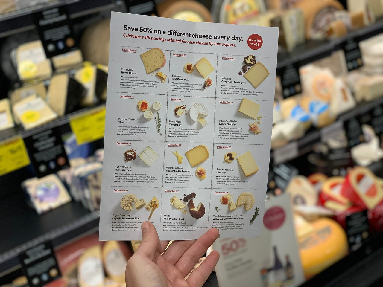 deal shopping with stetson (another visit to Ulta) – Whole Foods cheese deals for December