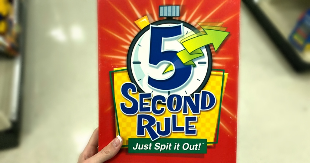 hand holding 5-Second-Rule game