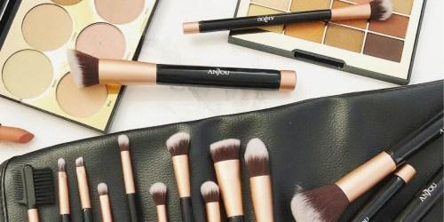 Amazon: Anjou 16-Piece Premium Makeup Brush Set Only $10.99 Shipped