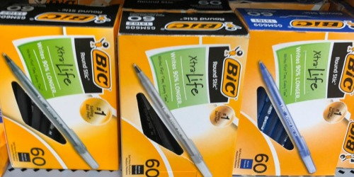 $3 Off $3.01 eBay Coupon = 60 BIC Round Stic Pens Only 99¢ Shipped (Regularly $7) + More