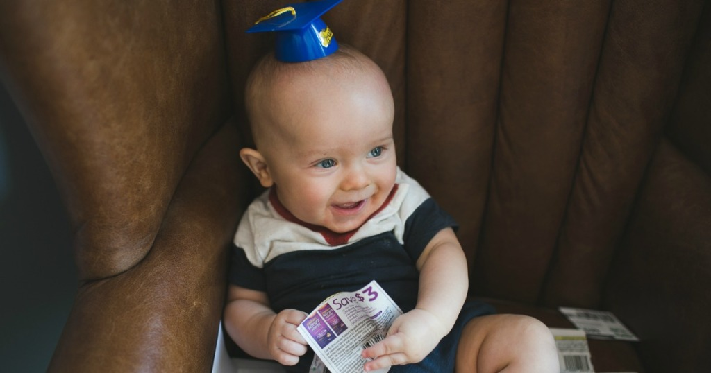 save more money 2019 easy tips - baby with coupon